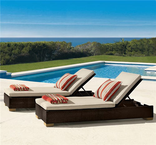 Restoration Hardware Outdoor Furniture Del Mar Armless Chaise