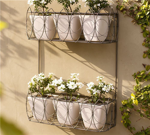 Outdoor Decor French Wire Wall Mount Planter