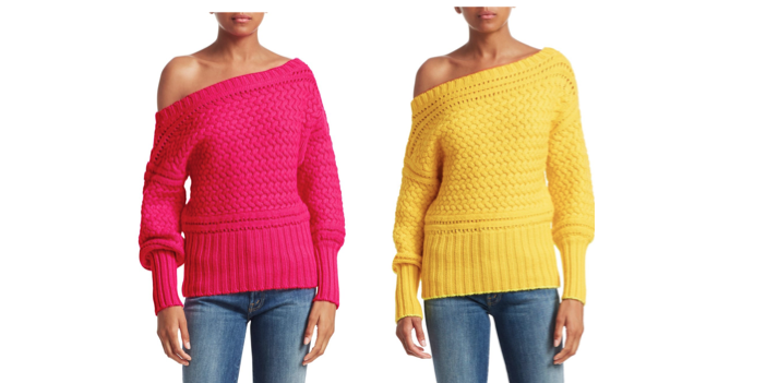 0566d73fd87d Tanya Taylor Marie Off-Shoulder Wool Sweater