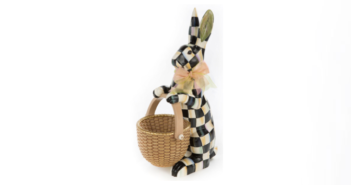 MacKenzie-Childs Courtly Check Rabbit Figure