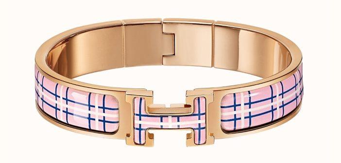 Hermès Clic H Tartan Bracelet