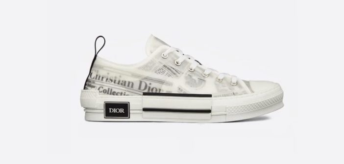 Shoe of the Day: B23 Dior and Daniel Arsham Sneaker In Newspaper Print