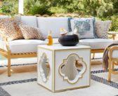 Luxury Decor: Geometric Outdoor Accent Table