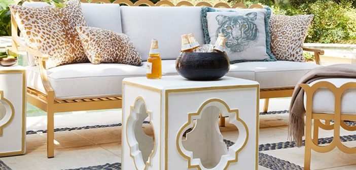 Luxury Decor: Geometric Outdoor Accent Table