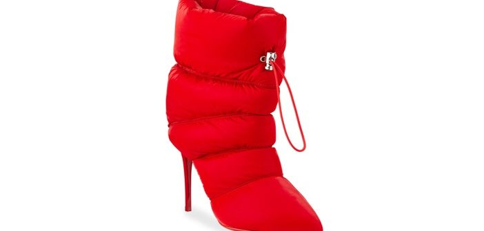 Shoe of the Day: Christian Louboutin Astro Puffy Winter Red Sole Stiletto Booties