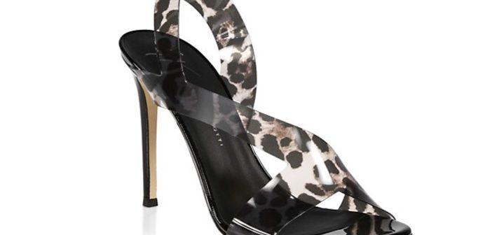 Shoe of the Day: Giuseppe Zanotti Leopard-Print PVC Slingback Stiletto Sandals