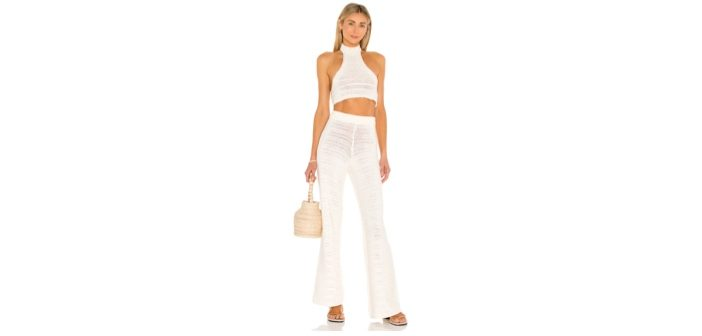 House of Harlow 1960 x Sofia Richie Ryleigh Crochet Top and Pants