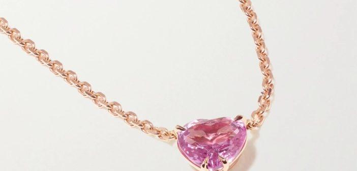 ANITA KO Sapphire and Diamond Rose Gold Necklace