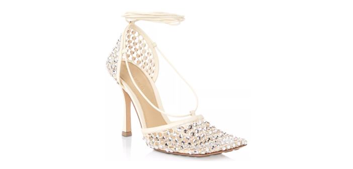 Shoe of the Day: Bottega Veneta Stretch Embellished High Heel Pumps