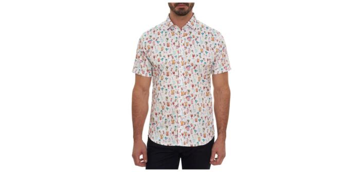 Robert Graham Happy Hour Print Short-Sleeve Shirt