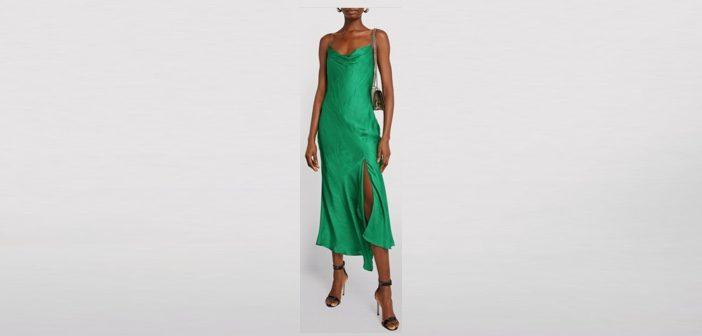 Alice+Olivia Silk Harmony Midi Dress
